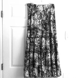 CAbi long skirt with ruffle Size S